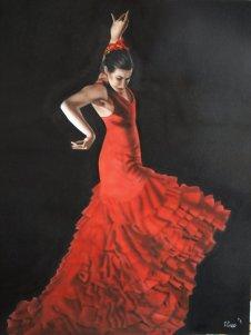 A Flamenco dancer