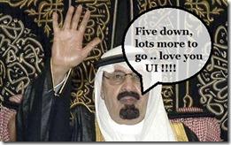 King Abdullah says thanks